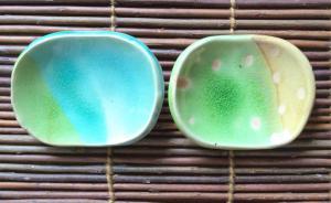 ガラス豆皿