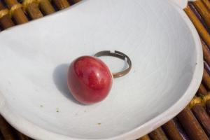 苺リング.もぐさ豆皿
