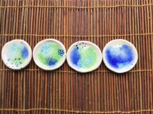 海森ガラス豆皿