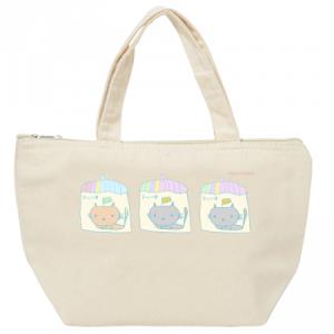 ここネコ保冷バッグ。子だくさんを願う三姉妹