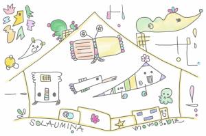 SOLAUMINA。anamocafeさん店内黒板アート第5弾